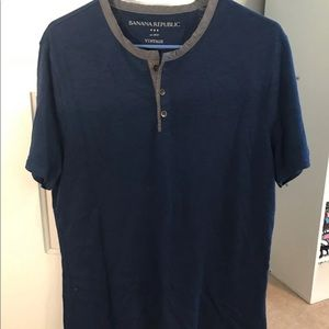 Blue Banana Republic Short Sleeve